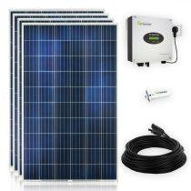Konnektorba dugható napelem rendszer 230V 1000W WiFi - 4 napelem és inverter