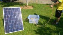 Napelemes öntöző szivattyú - 100W napelem, 50W búvárszivattyú - öntözés napenergiával