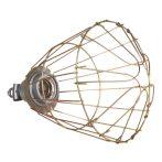 Lámpa foglalat és védőrács E27 izzóhoz
