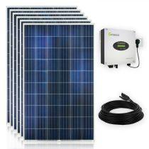 Konnektorba dugható napelem rendszer 230V 1500W WiFi - 4 napelem és inverter
