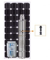 Napelemes öntöző szivattyú - 260W napelem, 180W búvárszivattyú - szolár szabályzó - öntözés mélykút