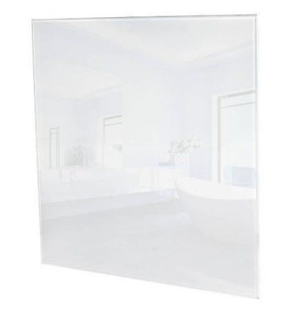 ÜVEG infrafűtés üvegpanel 450W  620 x 620 x 30mm fehér ÜVEG borítás.