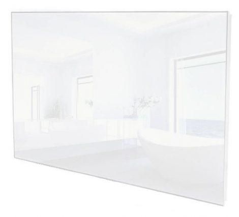 ÜVEG infrafűtés 650W 920 x 620 x 30mm fehér ÜVEG borítás.