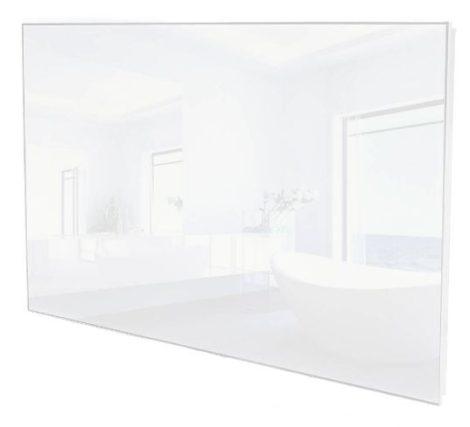 ÜVEG infrafűtés 850W 1220 x 620 x 30mm fehér ÜVEG borítás.