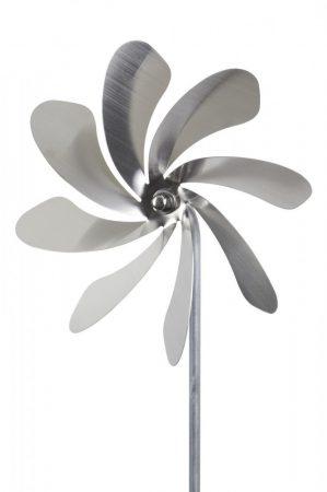 Szélkerék modell.  20 cm átmérőjú rozsdamentes golyóscsapágyazott szélforgó