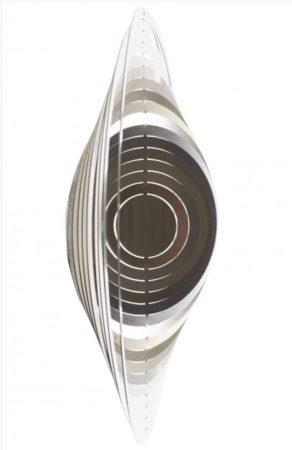 3D fém szélforgó gömb rozsdamentes acélból 15x15 cm széljáték