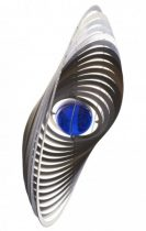 3D fém szélforgó kör rozsdamentes acélból 15x15 cm széljáték