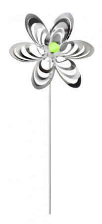 Szélforgó rozsdamentes golyóscsapágyazott szélkerék virág forma különbözö színű gyöngy