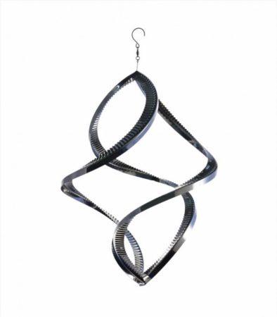 3D fém szélforgó twister rozsdamentes acélból 24x15 cm széljáték