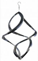 3D fém szélforgó twister rozsdamentes acélból 38x29 cm széljáték