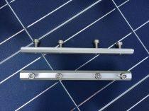 4 lyukas sínösszekötő alumínium sínekhez, napelem szereléshez. 4 db rozsdamentes csavarral