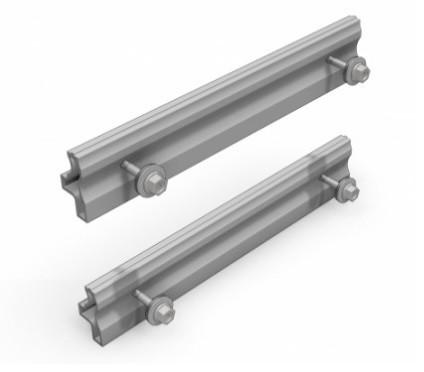 4 csavaros sínösszekötő alumínium sínekhez, napelem szereléshez. 4 db rozsdamentes csavarral