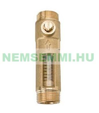 Átfolyásmérő áramlásmérő sárgaréz 1-3,5 l/p állítható átfolyás mennyiség mérő