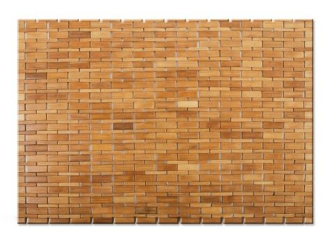 Bambusz kerti zuhany kilépő kültéri és beltéri használatra szolár zuhanyhoz vagy medence mellé 60x90