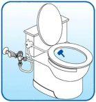 Bidé utólag beépíthető hideg vizes csap