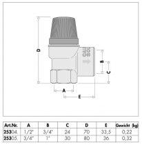 """Biztonsági szelep 6 bar 1/2"""" belső menet napkollektoros rendszerekhez"""