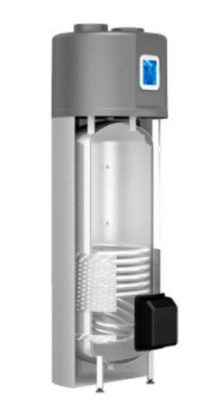 Indirekt tároló 200 literes 1 hőcserélős beépített hőszivattyúval Cordivari Bollytherm HP HMV tartály álló kivitel