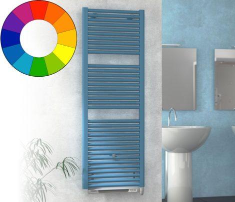 Színes elektromos radiátor - Cordivari Claudia Blower 500x763 farmerkék design törölközőszárító kény