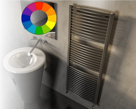 Színes design radiátor - Cordivari Claudia Curved 450x760 szürke design törölközőszárító. Rendelhető