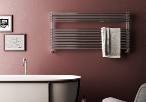 Design radiátor - Cordivari Elen 18 Wide Polished 1228x400 polírozott rozsdamentes acél design