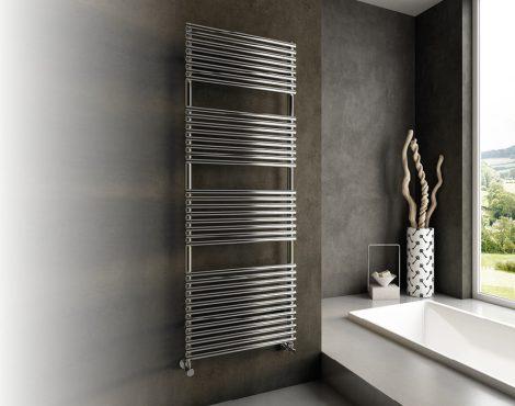 Design radiátor - Cordivari Elen 22 Polished 430x764 polírozott rozsdamentes acél design törölközősz