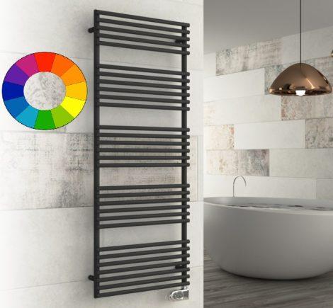 Színes elektromos radiátor - Cordivari Gloria 22 Electric 430x790 fekete színű design törölközőszárí
