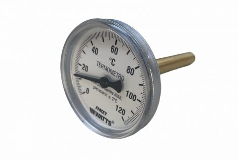 """Hüvelyes hőmérő Cordivari 1/2"""" csatlakozás 0°-120°C hőmérséklet tartomány"""