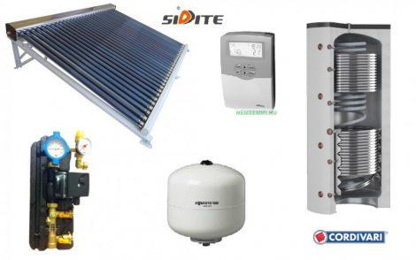 Kombi napkollektor rendszer Cordivari Eco-Combi 500 literes puffer fűtés rásegítésre