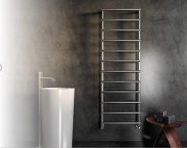Design radiátor - Cordivari Laura Polished 530x420 polírozott rozsdamentes acél design törölközőszár