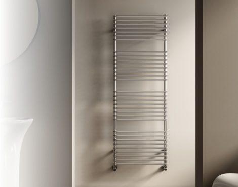 Design radiátor - Cordivari Leila Polished 400x784 polírozott rozsdamentes acél design törölközőszár