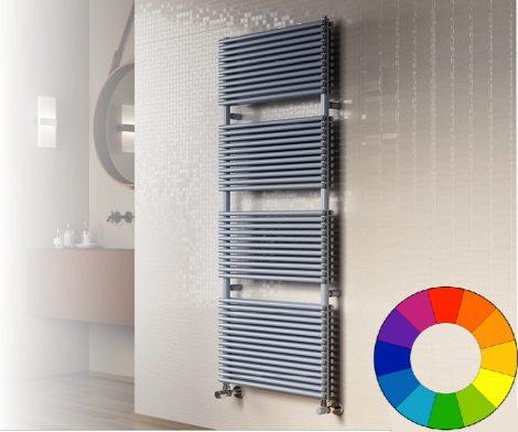 Színes radiátor - Cordivari Lucy 18 Plus 430x760 szürke design törölközőszárító. Rendelhető fekete p