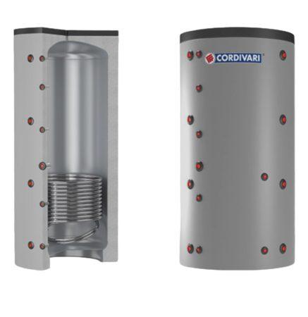 Puffer tároló - Cordivari 1VB 300 - 1 hőcserélős 300 liter - sarokba helyezhető puffertartály