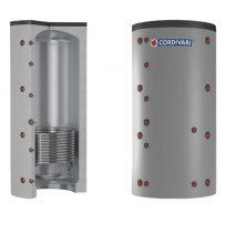 Puffer tároló - Cordivari 1VB 500 - 1 hőcserélős 500 liter - sarokba helyezhető puffertartály