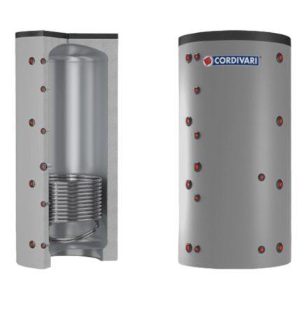 Puffer tároló - Cordivari 1VC 1000 - 1 hőcserélős 1000 liter - sarokba helyezhető puffertartály