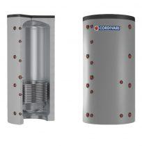 Puffer tároló - Cordivari 1VC 750 - 1 hőcserélős 750 liter - sarokba helyezhető puffertartály