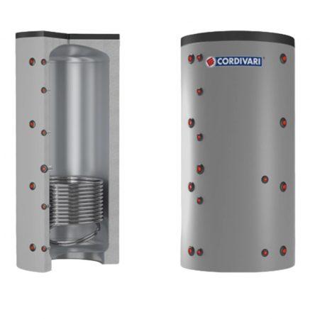 Puffer tároló - Cordivari 1VC 800 - 1 hőcserélős 800 liter - sarokba helyezhető puffertartály