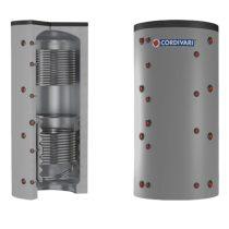 Puffer tároló - Cordivari 2VB 500 - 2 hőcserélős 500 liter - sarokba helyezhető puffertartály