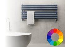 Színes radiátor - Cordivari Samira Wide 1000x300 grafitszürke design törölközőszárító. Rendelhető fe