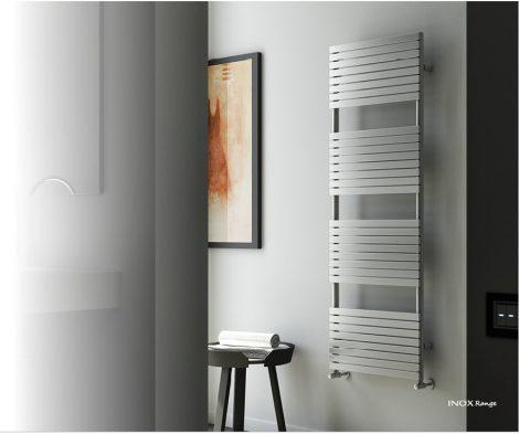 Design radiátor - Cordivari Stefania Satin 400x735 szálcsiszolt rozsdamentes acél design törölközősz