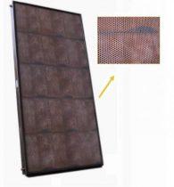 Sunerg cserépmintás síkkollektor - beolvad a tetőbe! Réz cső titán-oxid szelektív abszorber 2 m2 csú