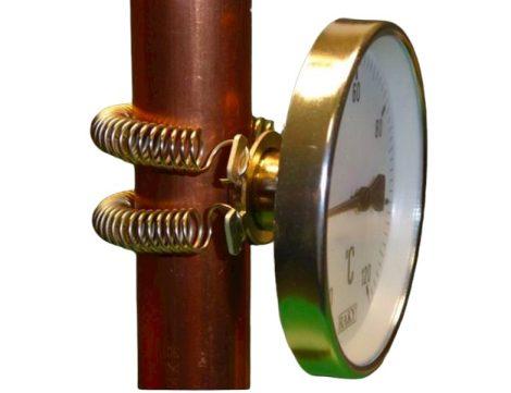 Cső hőmérő rugós kivitelű hőmérséklet mérő
