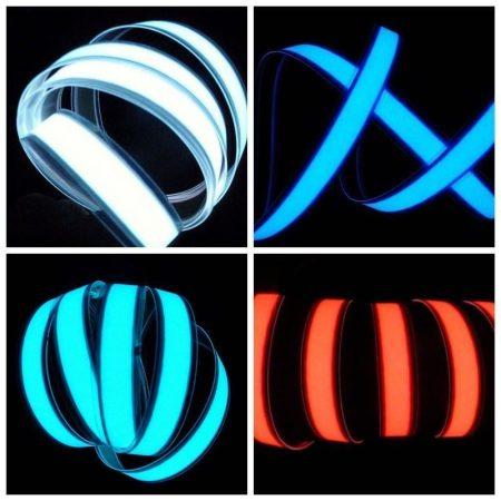 Világító fólia szalag 60 cm hosszú 12V vágható, lukasztható, ragasztható fehér, világoskék, kék, pir