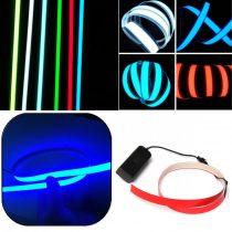 Világító fólia szalag 60 cm hosszú 3V vágható, lukasztható, ragasztható fehér, világoskék, kék, pir