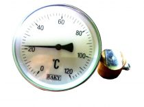 Fűtési hőmérő, rézcsőre forrasztható kivitel melegvíz kontakt hőmérő