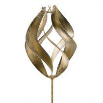 Függőleges tengelyű szélkerék dekoráció, földbe szúrható fém modell 160 cm magas