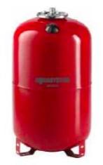 Fűtési rendszer tágulási tartály 100 liter, EPDM gumi membránnal piros színben