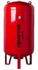 Fűtési rendszer álló tágulási tartály 200 liter, EPDM gumi membránnal piros színben