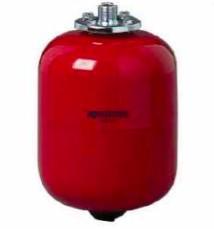 Fűtési rendszer tágulási tartály 24 liter, EPDM gumi membránnal piros színben