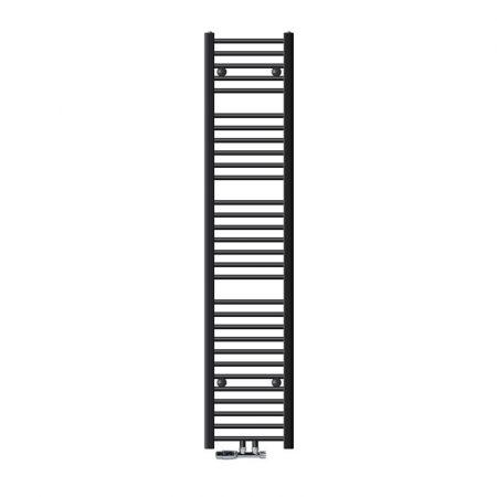 Törölközőszárító radiátor 300 x 1800 mm antracit egyenes változat központi csatlakozással