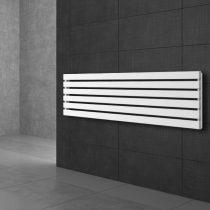 Modern design radiátor 370x1600mm fehér színben, különleges hosszított és keskenyített, vízszintesen is felszerelhető, stílusos megjelenés 781W teljesítmény